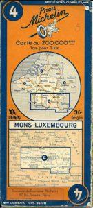oude Michelin wegenkaart