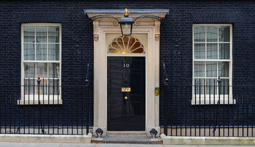 """10 Downing Street. MOD 45155532"" by Photo: Sergeant Tom Robinson RLC/MOD. Licensed under OGL via Wikimedia Commons - http://commons.wikimedia.org/wiki/File:10_Downing_Street._MOD_45155532.jpg#/media/File:10_Downing_Street._MOD_45155532.jpg"