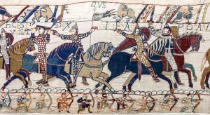 borduurwerk paarden slag bij Hastings Bayeux