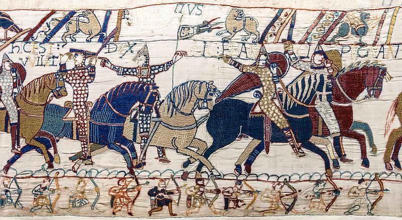 Een scene uit het tapijt van Bayeux
