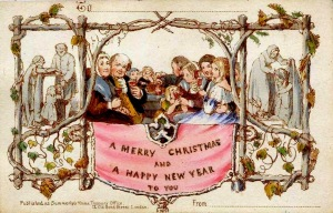 """Firstchristmascard"". Licensed under Public domain via Wikimedia Commons - http://commons.wikimedia.org/wiki/File:Firstchristmascard.jpg#mediaviewer/File:Firstchristmascard.jpg"