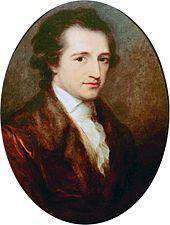 schilderij van de dichter Goethe