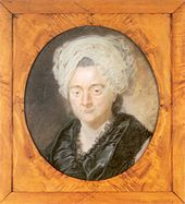 portret van de moeder van de dichter Goethe