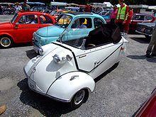 Messerschmitt is een driewielige tweepersoonsauto